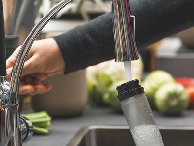 Einfaches Auffüllen des Wassertanks